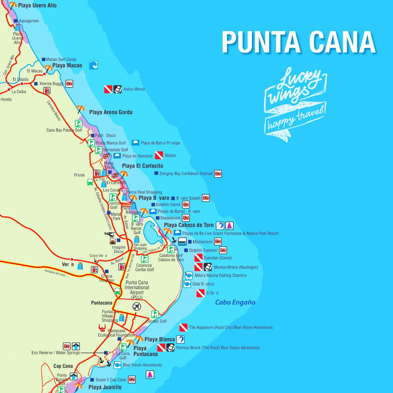 Карта районов Пунта-Каны