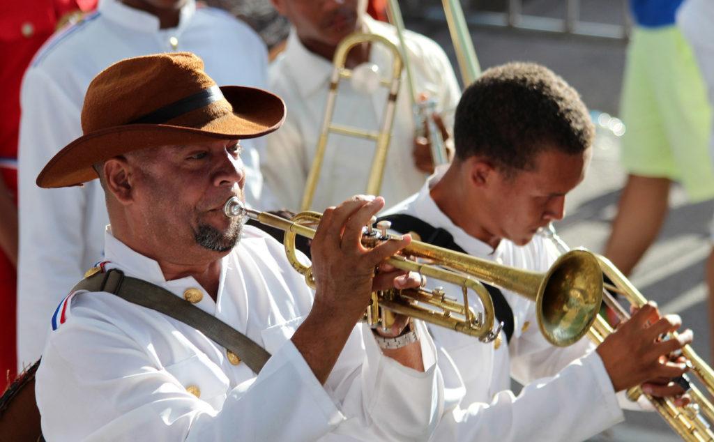 Музыканты на Карнавале в Доминикане