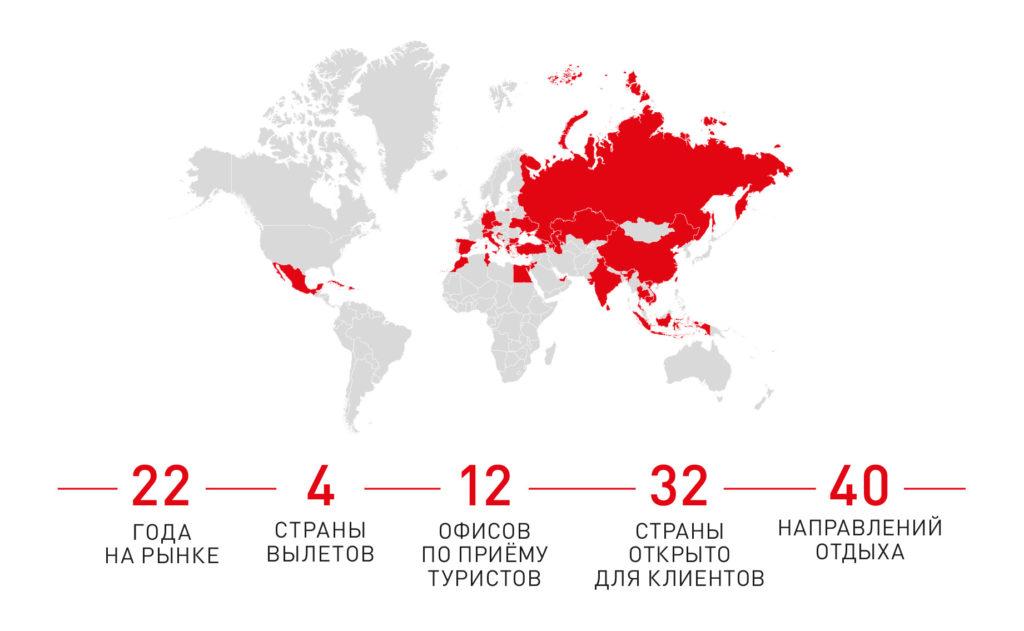 Карта полетов AnexTour