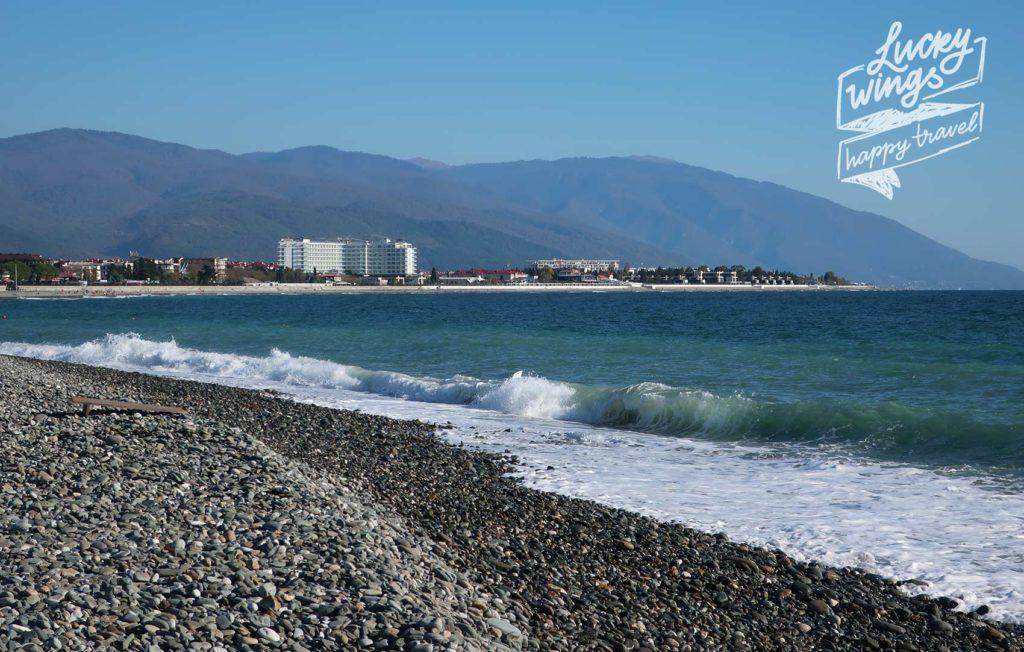 Черное море Сочи пляж